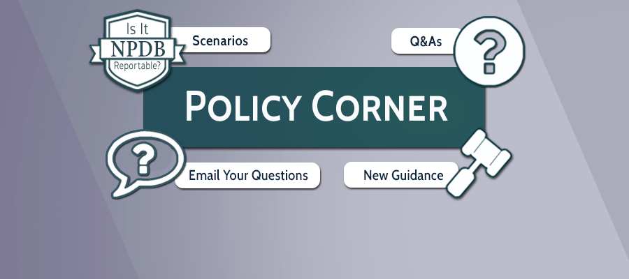A visual representation of the policy corner