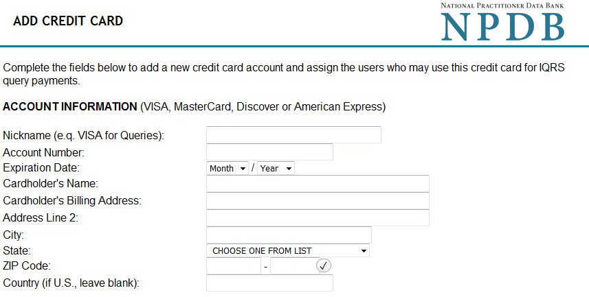 Add Credit Card Screenshot