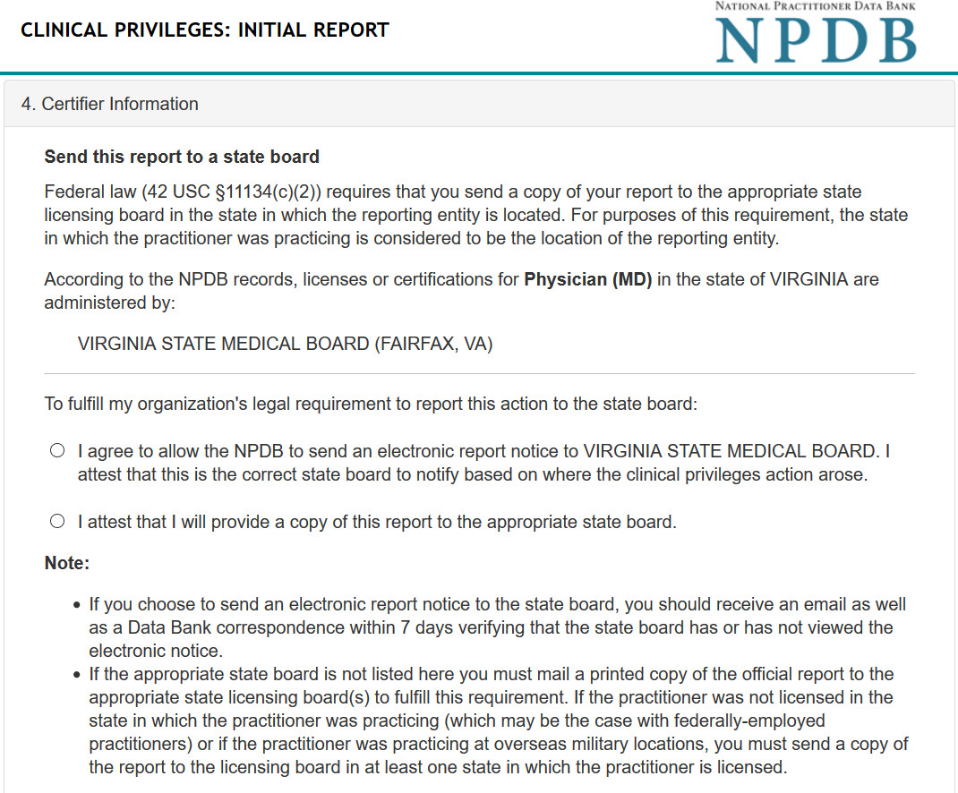 The Npdb  How To Forward Reports
